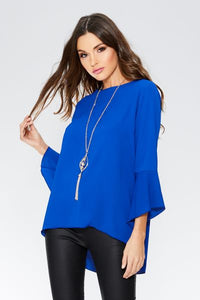 Royal Blue Necklace Top