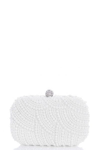 White Pearl Box Bag