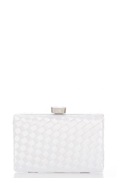 White Satin Box Bag