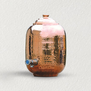 Handmade Pure Copper water Dispenser - 5.5 Liters
