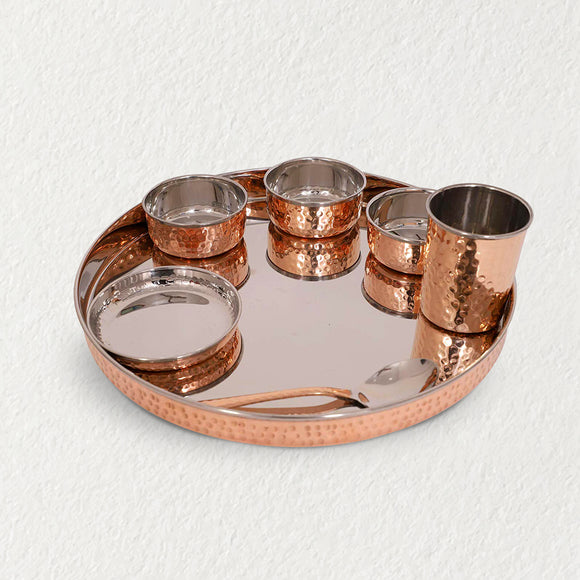 Copper Traditional Thali Set