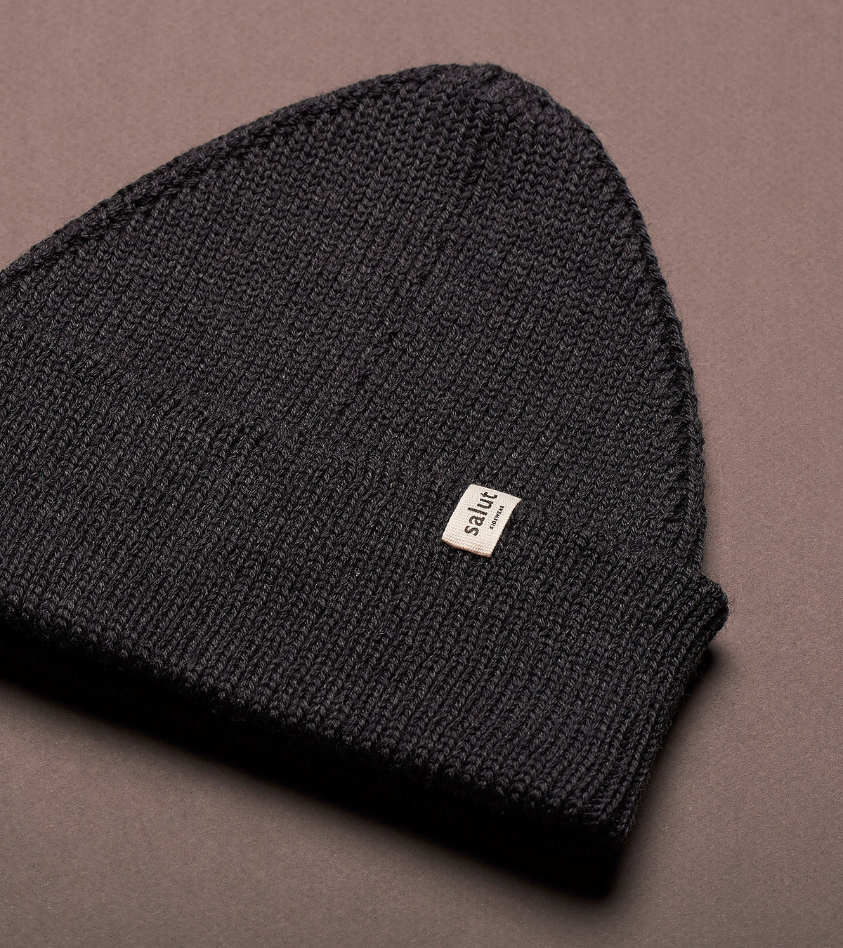 Merino Beanie Charcoal, made in Switzerland