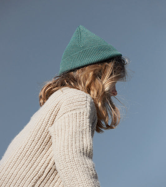 Merino Beanie Leaf, made in Switzerland