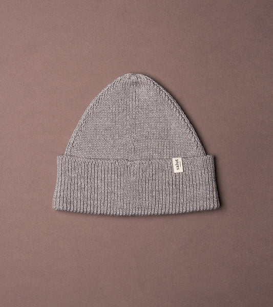 Merino Beanie Grey, made in Switzerland