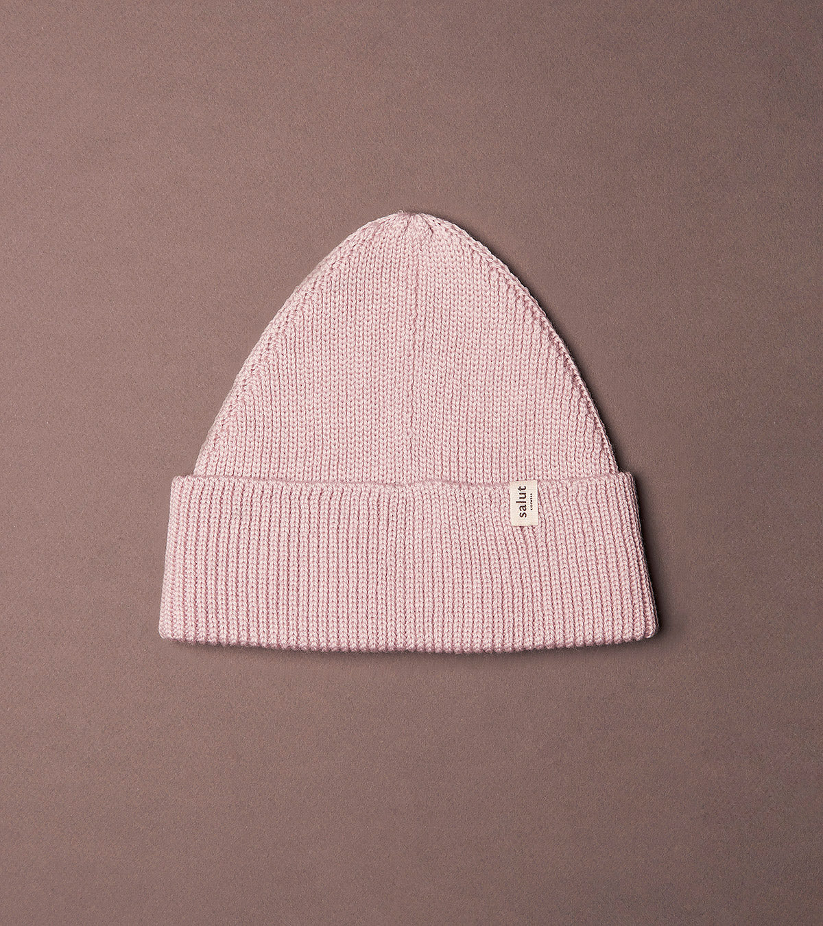 Merino Beanie Rose, made in Switzerland