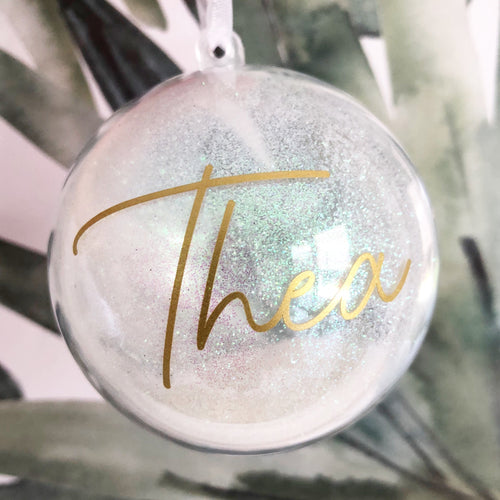 Pre-order Personalised Christmas Baubles
