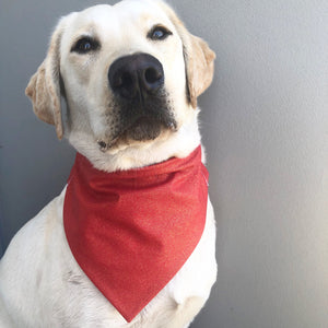Glitter Christmas Bandana - Red