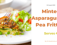 Minted Asparagus and Pea Frittata on a plate