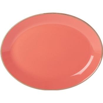 "Porcelite Seasons Coral Oval Plate 30 x 23cm / 12"" x 9"" - Pack of 6"