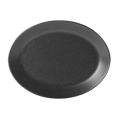 "Porcelite Seasons Graphite Oval Plate 30 x 23cm / 12"" x 9"" - Pack of 6"