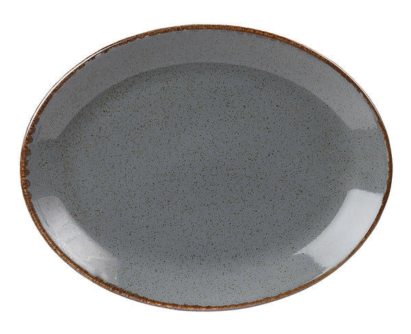 "Porcelite Seasons Storm Oval Plates 30 x 23cm / 12"" x 9"" - Pack of 6"