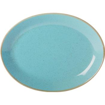 "Porcelite Seasons Sea Spray Oval Plates 30 x 23cm / 12"" x 9"" - Pack of 6"