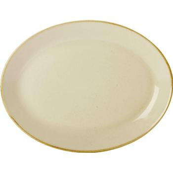 "Porcelite Seasons Wheat Oval Plates 30 x 23cm / 12"" x 9"" - Pack of 6"