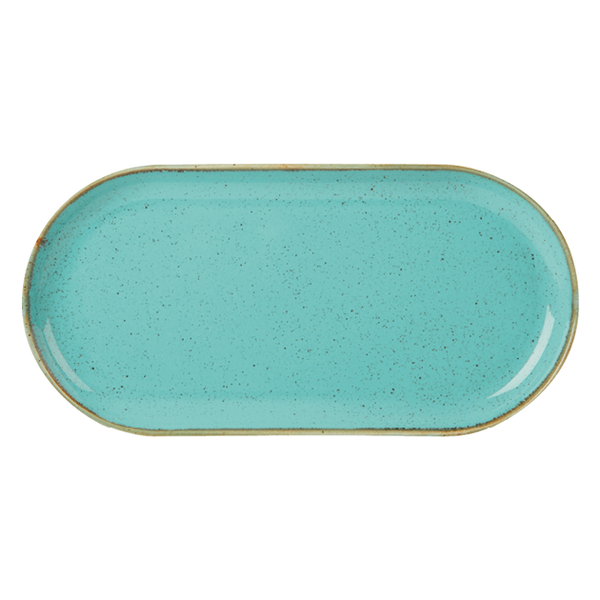 "Porcelite Seasons Sea Spray Narrow Oval Plates 32 x 20cm / 12 ½"" x 8"" - Pack of 6"