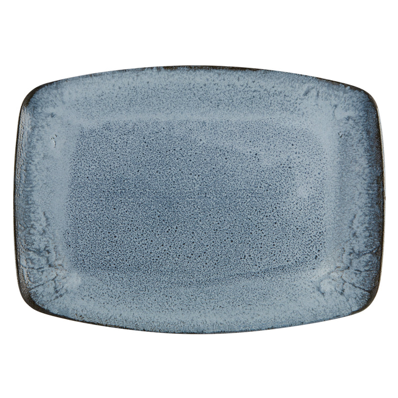 "Porcelite Aura Glacier Rectangular Plate 27cm / 10 ½"" - Pack of 6"