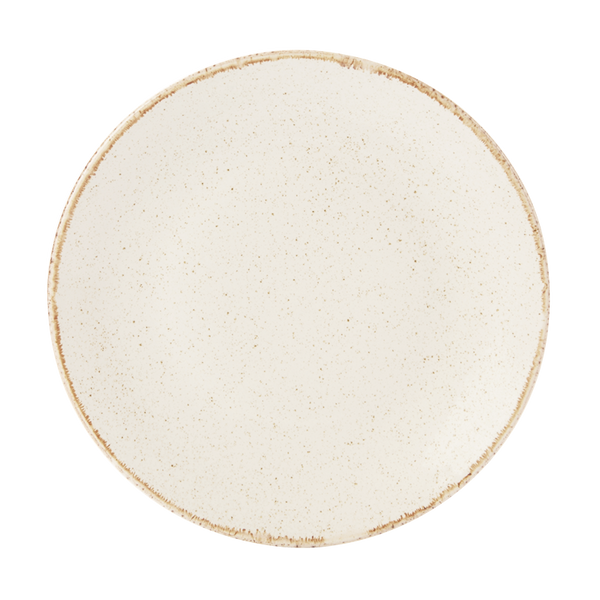 Porcelite Seasons Oatmeal Coupe Plates 18cm / 7'' - Pack of 6