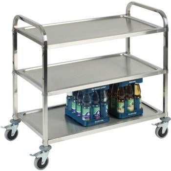 3 Tier Stainless Steel Serving Trolley - Kitchway.com
