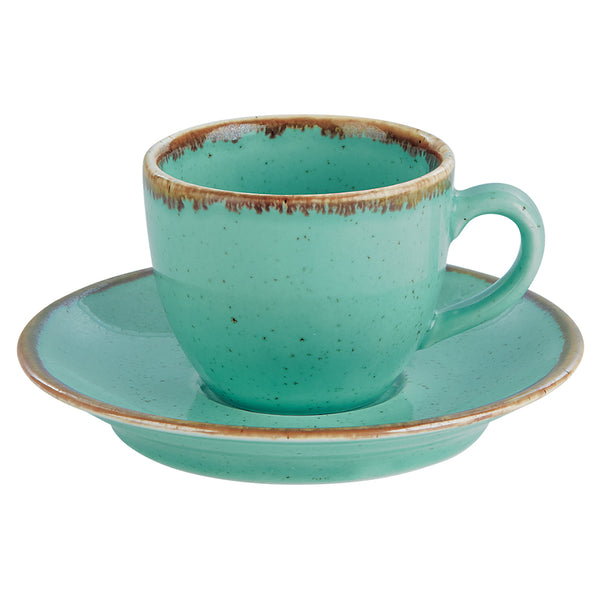 "Porcelite Seasons Sea Spray Espresso Cup Saucer 12cm / 4 ½"" - Pack of 6"