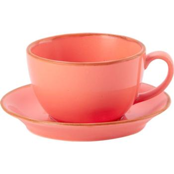 Porcelite Seasons Coral Bowl Cups 34cl / 12 oz- Pack of 6
