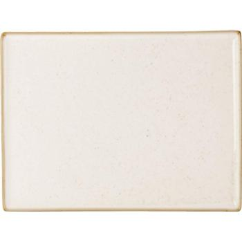 "Porcelite Seasons Oatmeal Rectangular Platters 35 x 25cm / 13 ¾"" x 10"" - Pack of 6"
