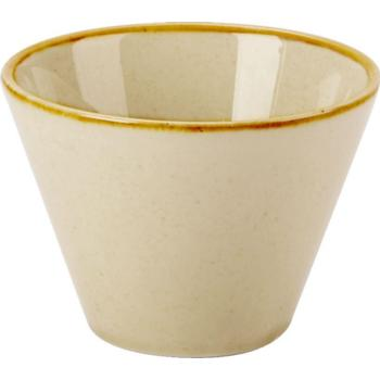 "Porcelite Seasons Wheat Conic Bowl 9cm (20cl) / 3 ½"" (7 oz) - Pack of 6"