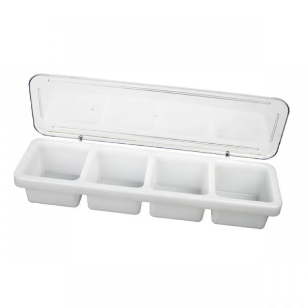 4 Compartment Bar Caddy with cover - Kitchway.com