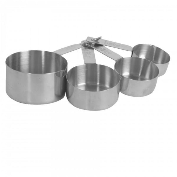 4-Piece Stainless Steel Measuring Cup Set - Kitchway.com
