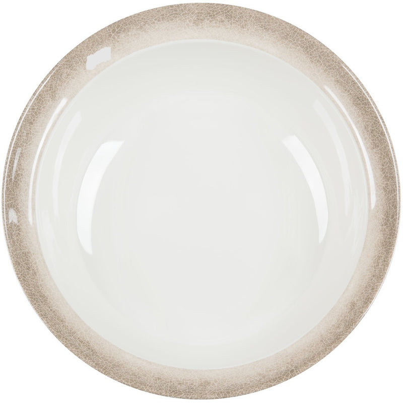 Jazz Round Melamine Bowl with Crackle-Finished Border - Pack of 6