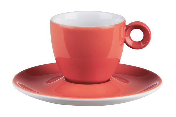 "Costaverde Cafe Red Espresso Cup Saucer 12.5cm / 5"" - Pack of 12"
