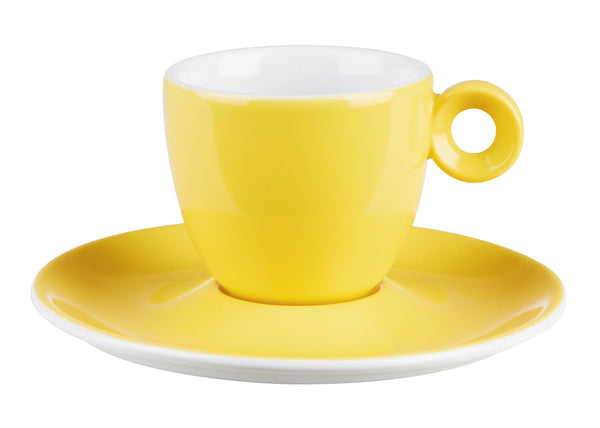 "Costaverde Cafe Yellow Espresso Cup Saucer 12.5cm / 5"" - Pack of 12"