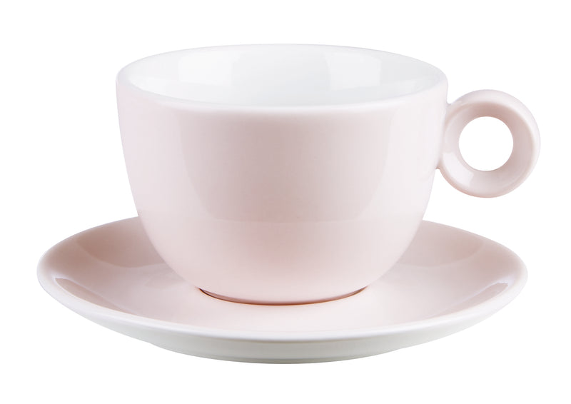 "Costaverde Cafe Baby Rose Bowl Shaped Cup Saucer 16cm / 6 ⅓"" - Pack of 6"