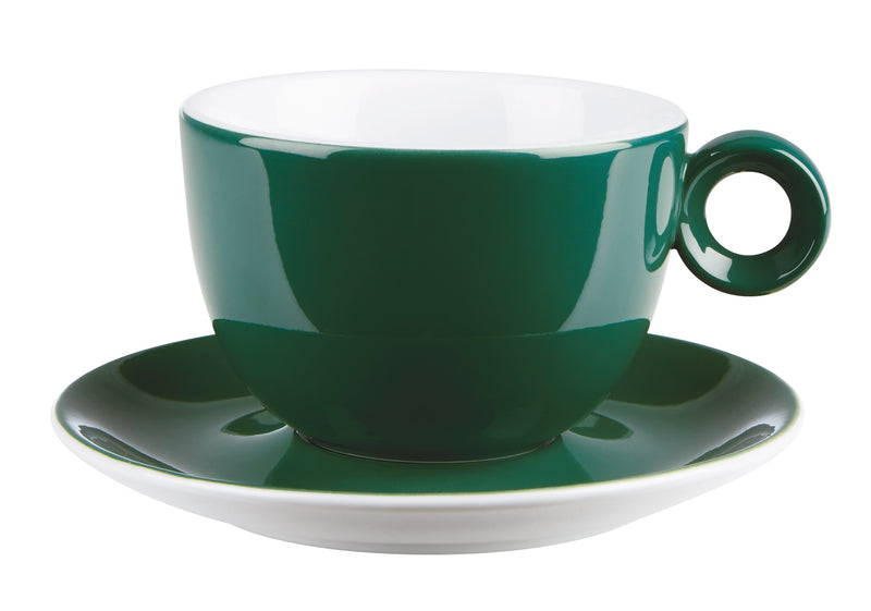 Costaverde Cafe Dark Green Bowl Shaped Cup 23cl / 8 oz - Pack of 12
