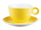 "Costaverde Cafe Yellow Bowl Shaped Cup Saucer 16cm / 6 ⅓"" - Pack of 6"