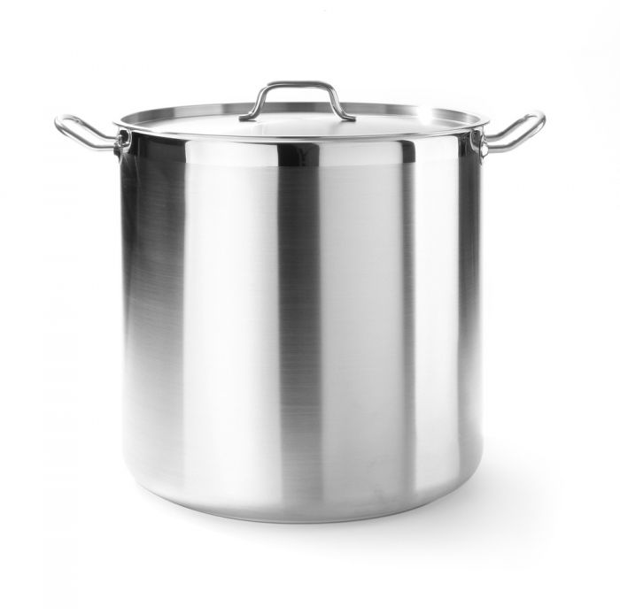 Hendi 18/10 SS Stew Pan high - with lid (50 litre)