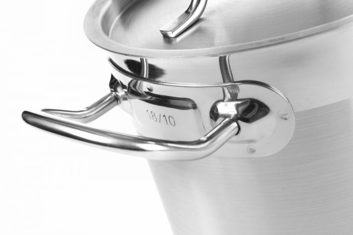Hendi Budget 18/10 SS Stew Pan high - with lid (50 litre)