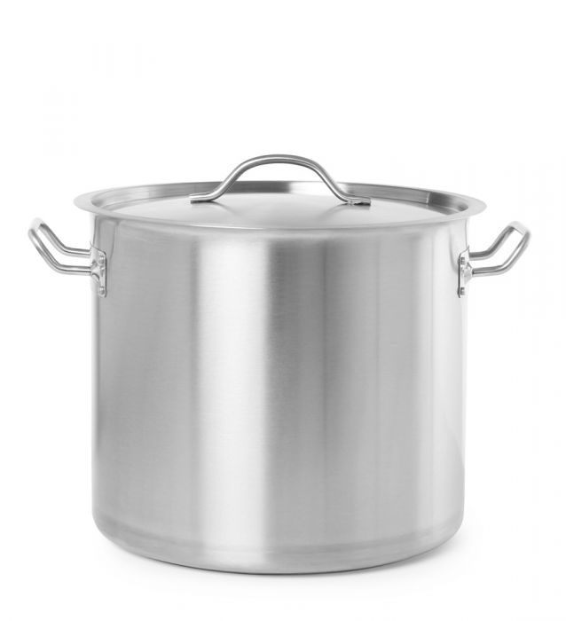Hendi Budget 18/10 SS Stew Pan high - with lid (71 Litre)