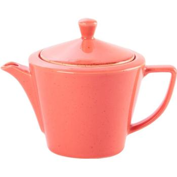 Porcelite Seasons Coral Conic Teapot 50cl / 18 oz- Pack of 6