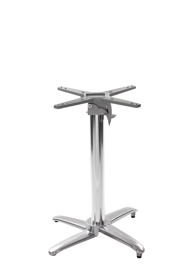 Aluminium all weather table base - Flip top - Dining Height - 730 mm