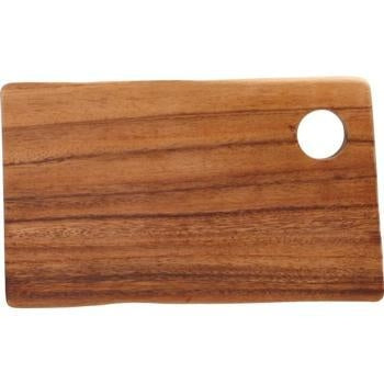Acacia Rectangular Board with Hole-14x25x2cm - Kitchway.com