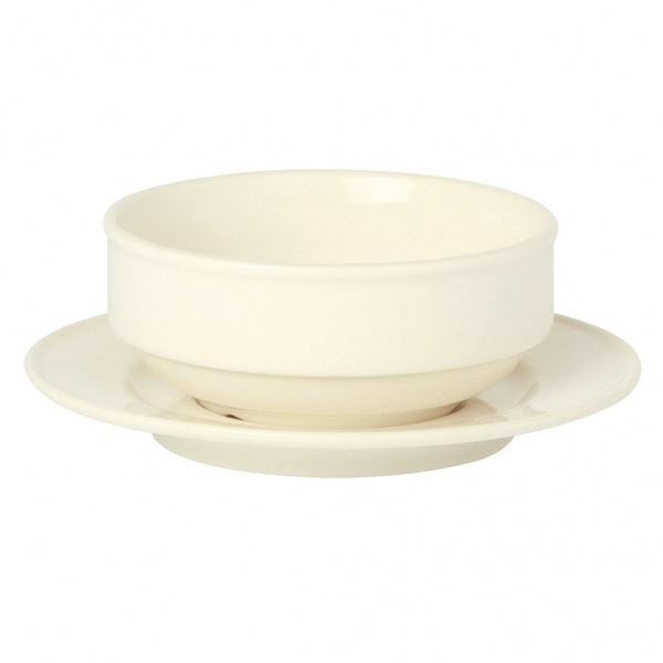Academy Event stacking Bowl with Saucer - Kitchway.com