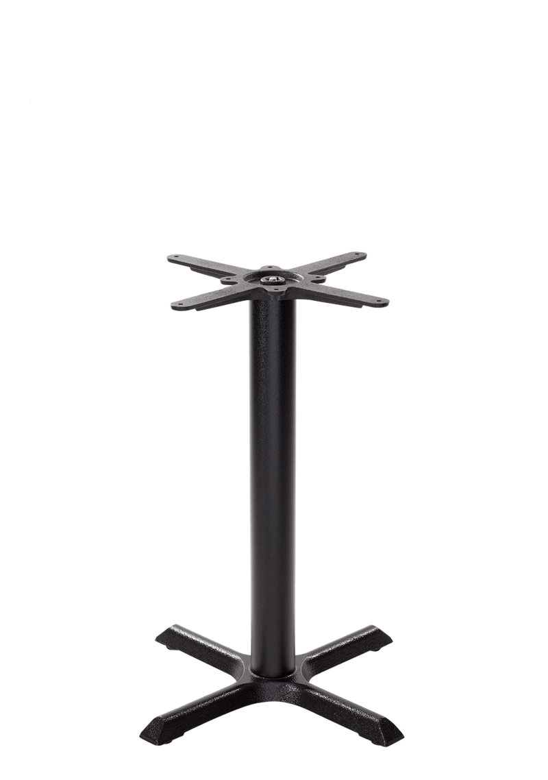 Black cruciform table base - Small - Dining height - 730 mm