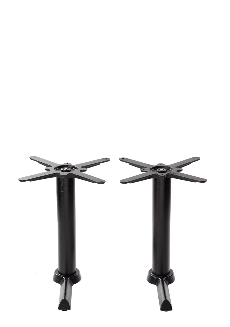 Black cruciform table base - Twin - Coffee height - 480 mm