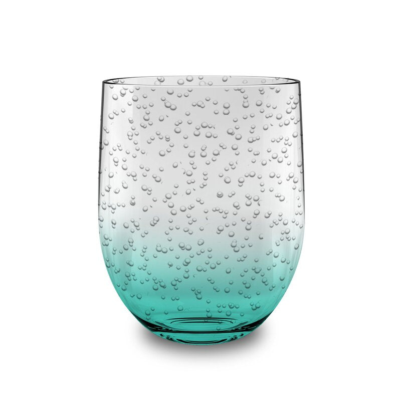 Bubble 455ml Plastic Stemless Drinking Glass - Pack of 12