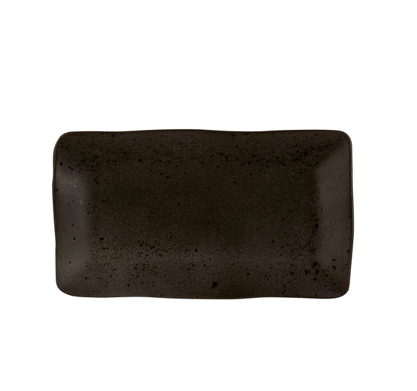 "Rustico Ironstone Rectangular Plate 27.5 x 15.5cm / 10 ¾"" x 6"" - Pack of 6"
