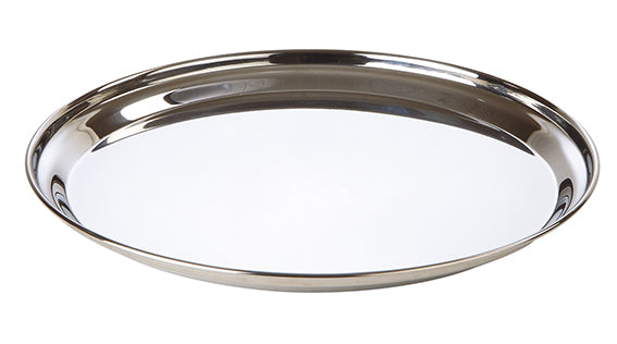 Stainless Steel Round Flat Tray 35cm
