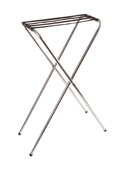Chrome Plated Foldable Tray Stand 92 x 31.5 x 50cm