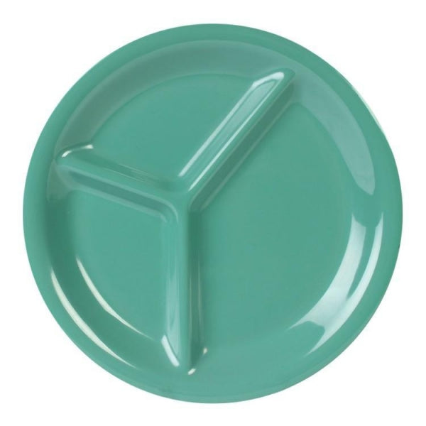 3-Compartment Melamine Plate-12/Case - Kitchway.com