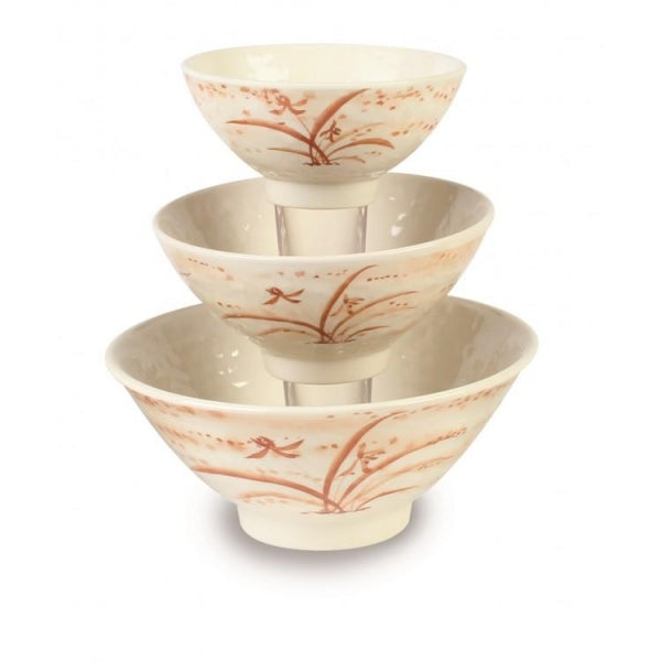Gold Orchid Melamine Rice Bowl-12/Case - Kitchway.com
