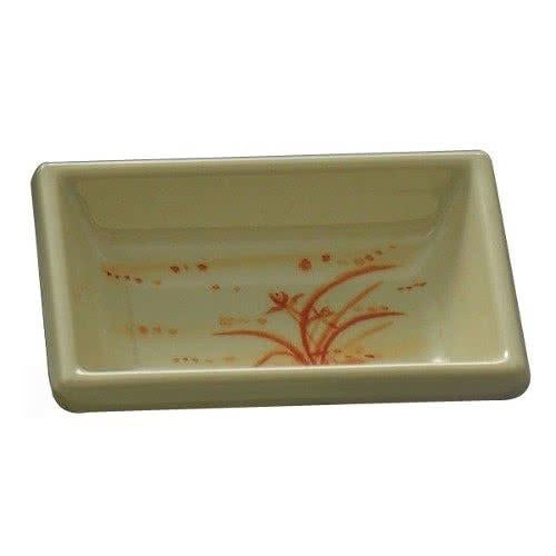 Gold Orchid Rectangular Melamine Sauce Dish-12/Case - Kitchway.com