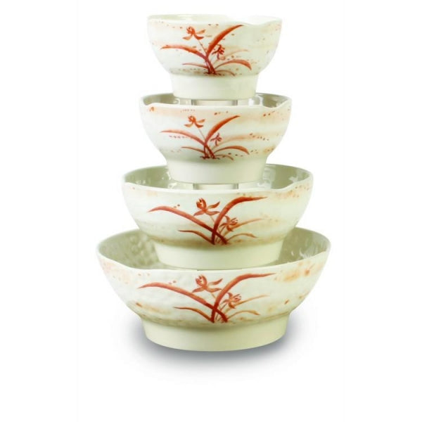 Gold Orchid Melamine Wave Soup Bowl-12/Case - Kitchway.com